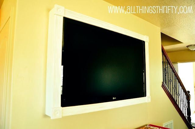 Cover up ugly LCD TV brackets | Tv bracket, Flatscreen and Wall mount