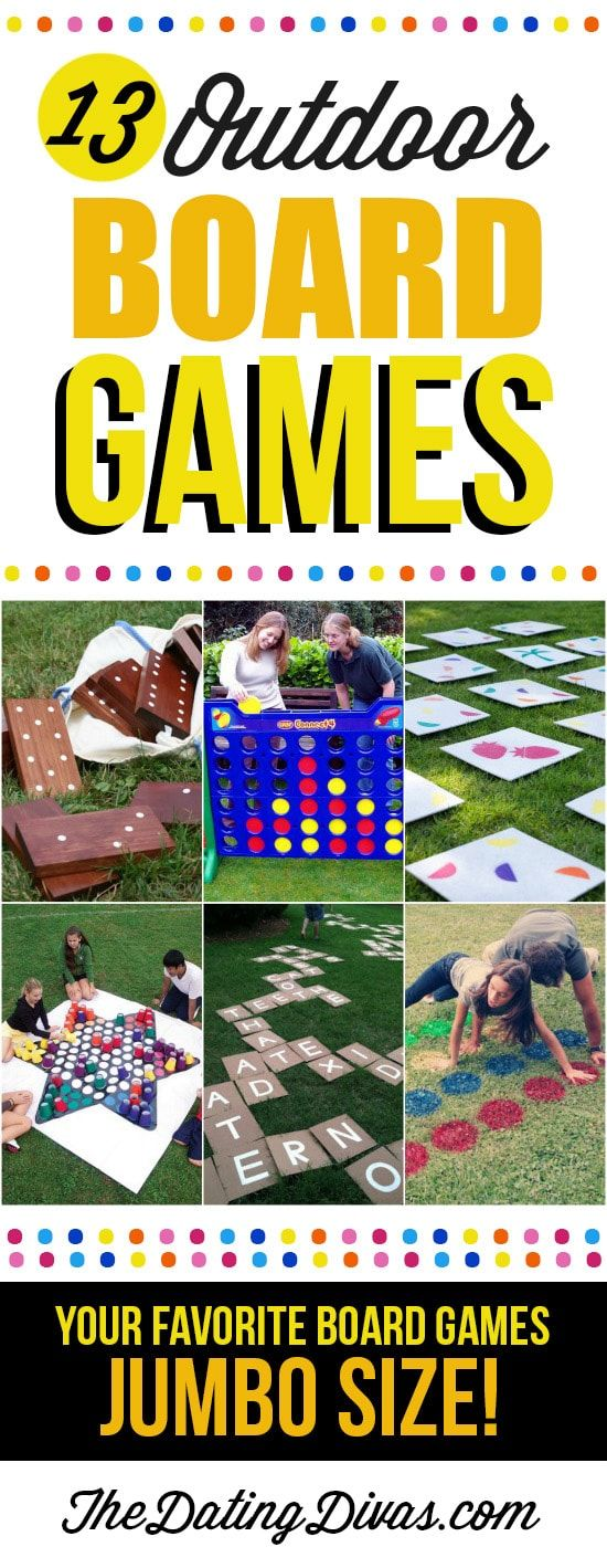 Fun Outdoor Board Games For Kids Games Pinterest Juego