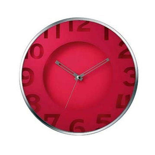 Amazon.com: Fruity (Pink Strawberry) Non Ticking Silent Wall Clock