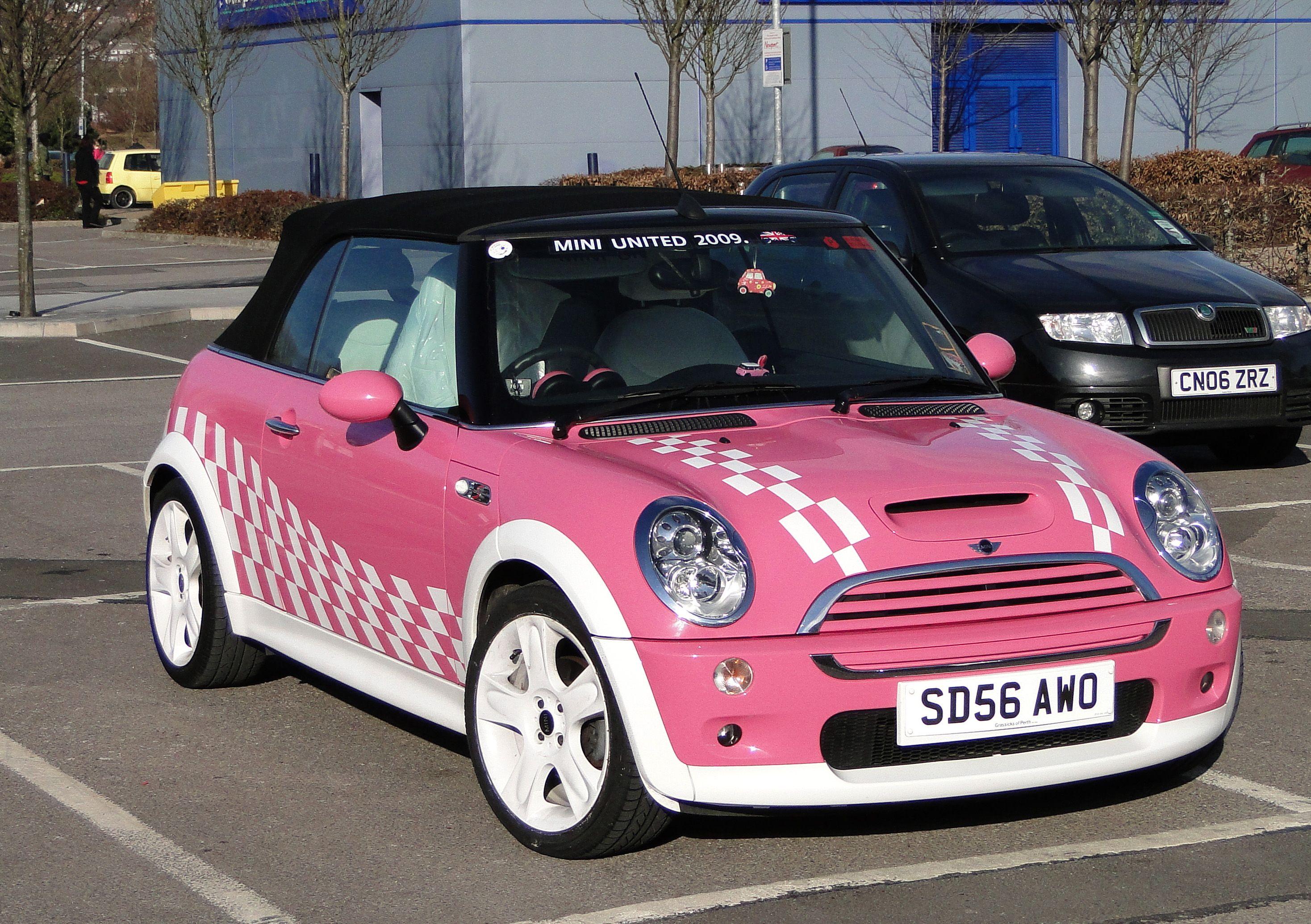"Pink Cool & Beauty Of Cars "" MiniCooper "" Pink mini"