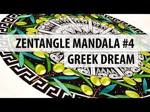 Zentangle Mandala #4 - Greek Dream - YouTube