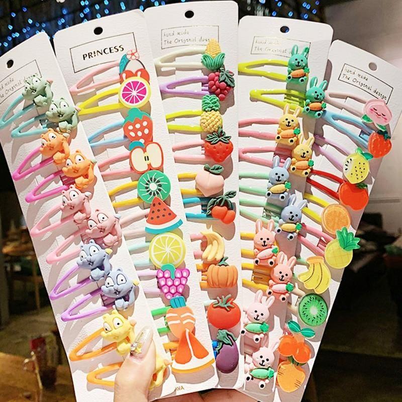 1set Cartoon Hairpins In 2021 Girls Hair Accessories Fashion Hair Accessories Hair Clips