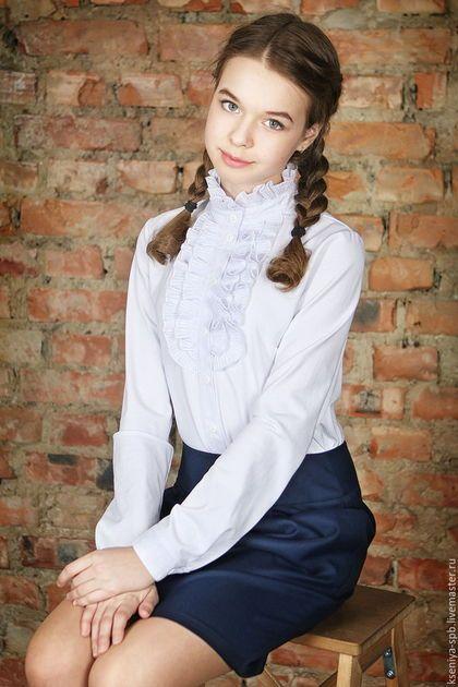 Купить трикотажную блузку для девочки