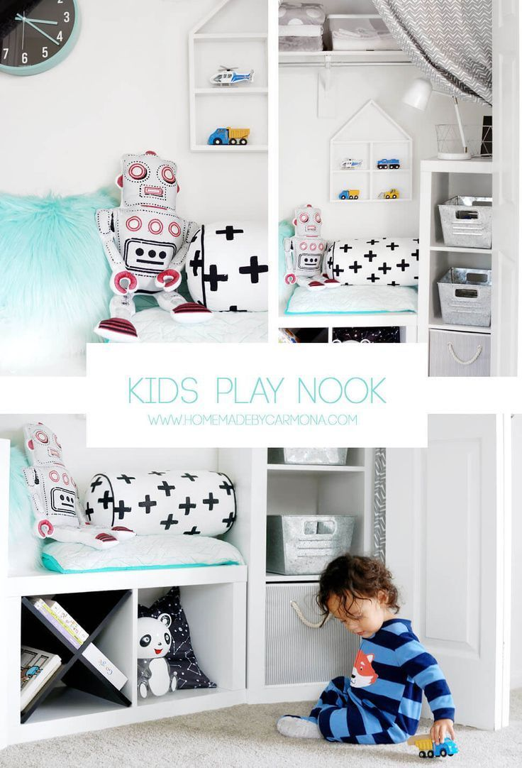 Tips Tutorials To Create A Budget Friendly Diy Play Room: How To Turn A Kids Closet Into A Play Nook