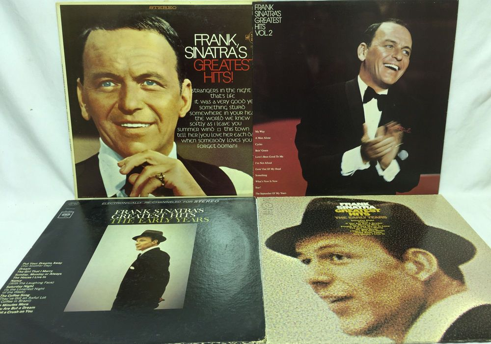 Frank Sinatra Lot Of 4 Vinyl Record Albums Greatest Hits 1 Vol 2
