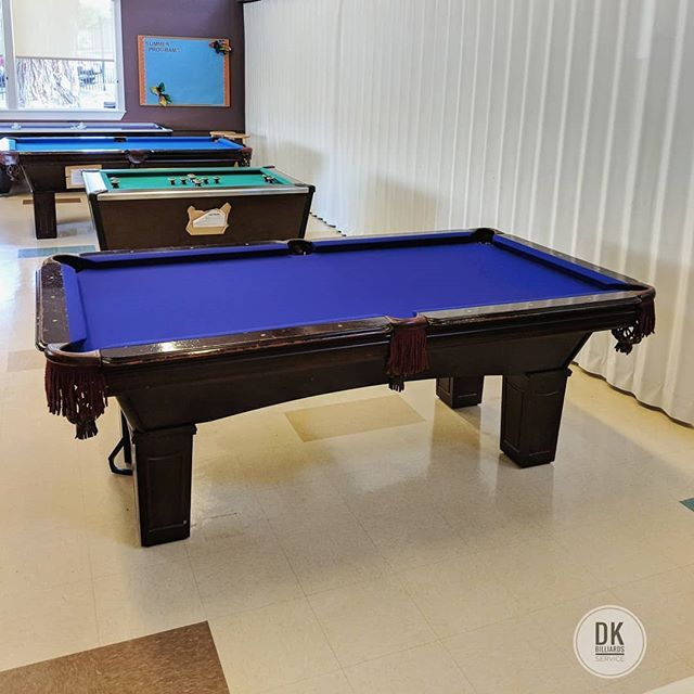 Finished refelting this 7 foot ABC pool table at the Boy's ...