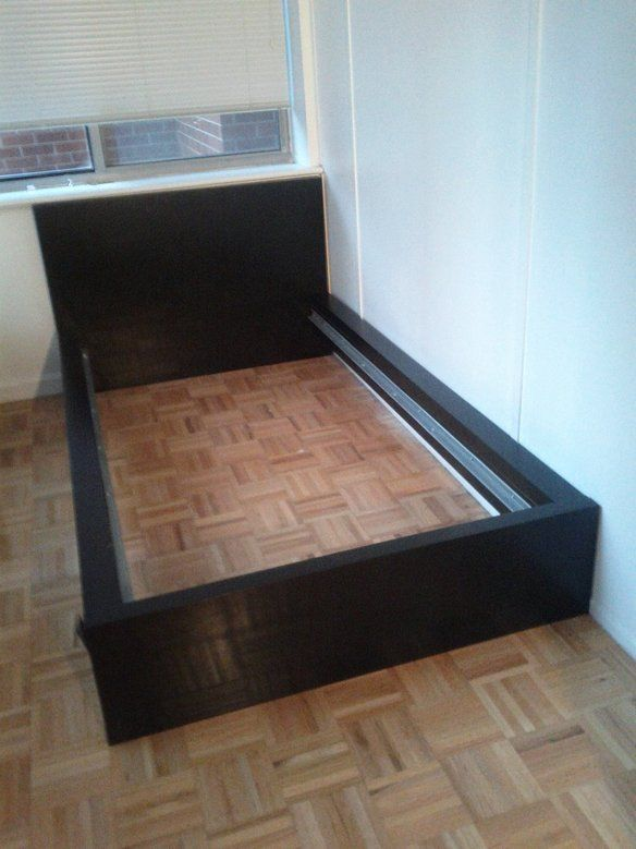 ikea twin bed frame black