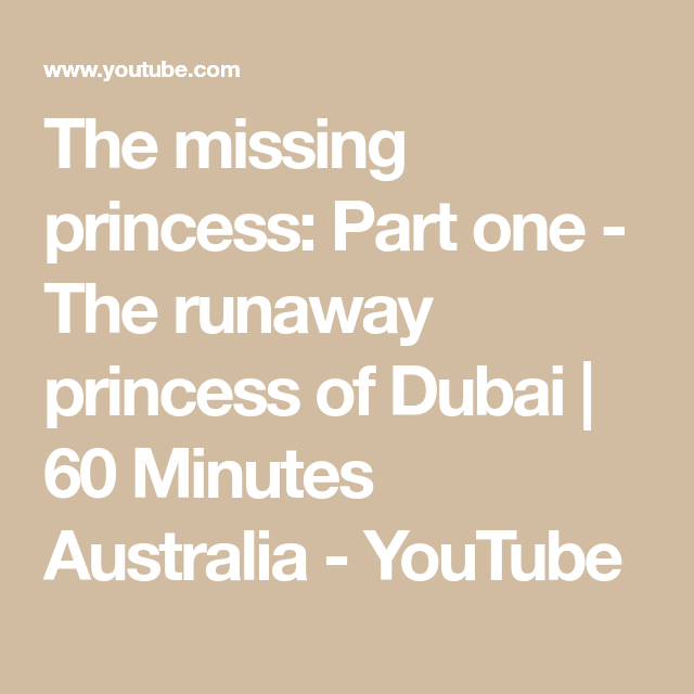 The missing princess: Part one - The runaway princess of