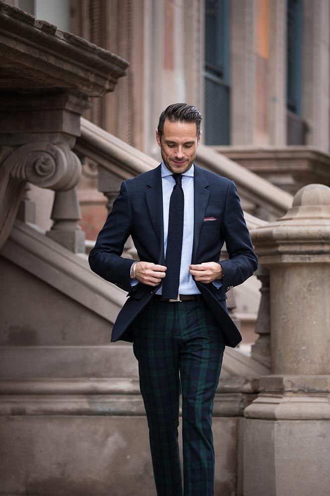 how to dress for new years eve - Tommy Hilfiger black watch plaid ...