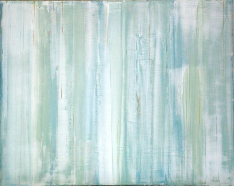 "Ice Cold 2011 Venetian plaster and acrylics on wood panel. 16"" x 20"""