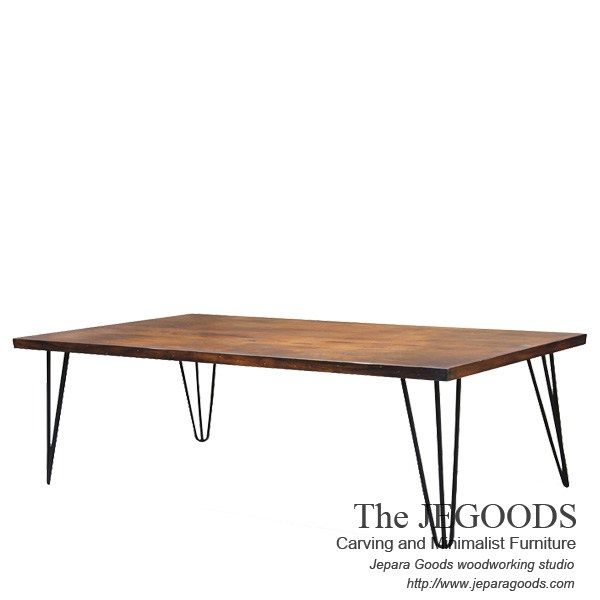 Rectangular with Hairpin Industrial Metal Wood Rustic Coffee Table Made by Jepara Goods Indonesia.    We produce and supply #rusticfurniture #industrialfurniture at affordable price by skilled #craftsman from Jepara, Central Java - Indonesia.