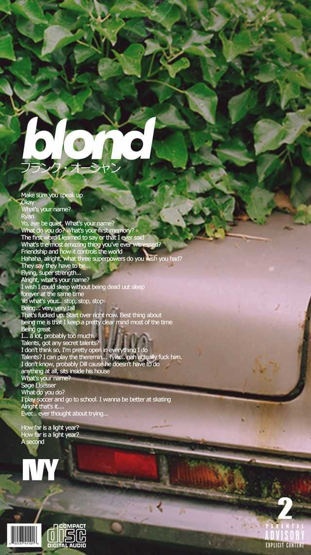 Blonde Alternative Song Covers Phone Wallpapers English Version Frank Ocean Wallpaper Alternative Songs Photo Wall Collage