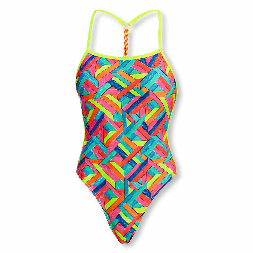 Funkita Damen Badeanzug Schwimmanzug Twisted Panel Pop