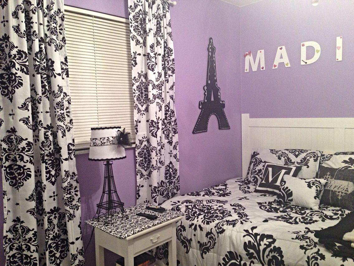 Here is just a bit of my room that we remodeled. I did a Paris theme. We are going to change my name up on my wall a bit, but it is mostly done :-)