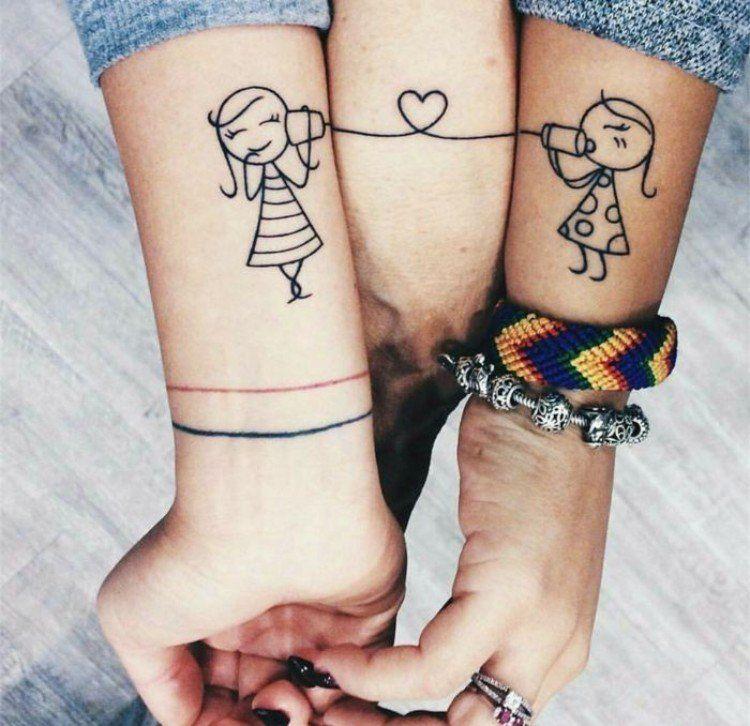 Tatouages Pour Sœurs Les Plus Jolies Inspirations Pour Filles Tatouage Soeurs Tatouage Tatouage Meilleure Amie