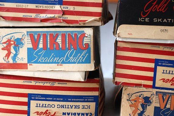 SALE vintage ice skates viking figure skates by TheNewtonLabel, $36.00