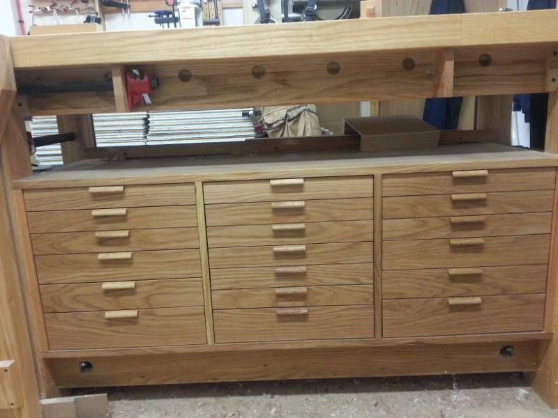 Workbench Drawers Finally Done Workbench With Drawers Drawers Workbench