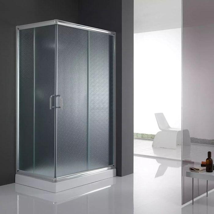 Box doccia angolare 2 ante scorrevoli in cristallo opaco