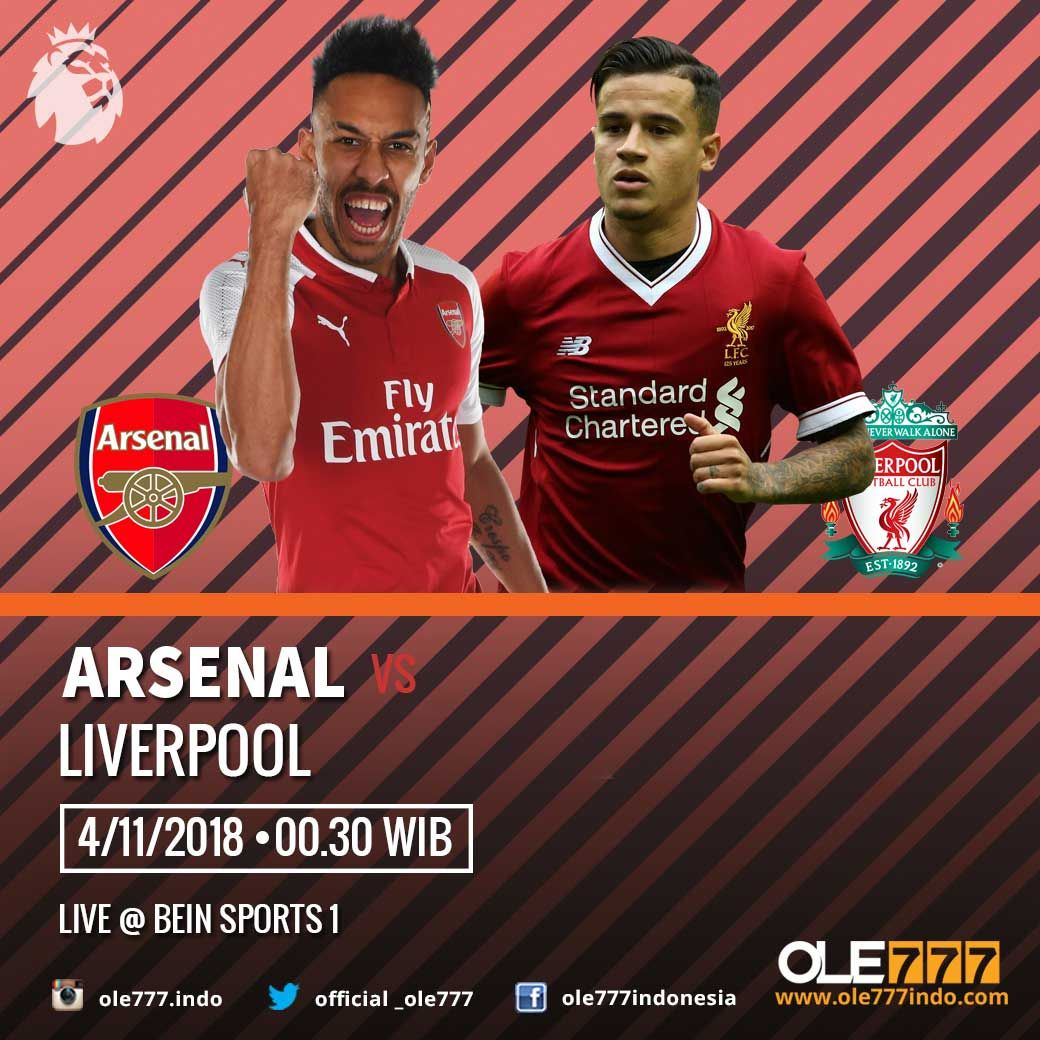Premier League . ARSENAL & LIVERPOOL . 4 NOVEMBER 2018 PKL