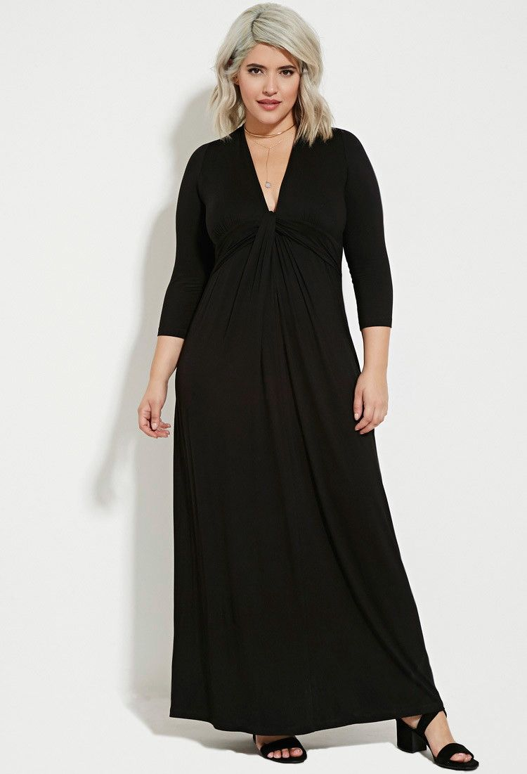 Plus size twisted front maxi dress to wear pinterest canada