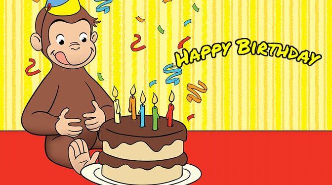 Free Curious George Birthday Ecards
