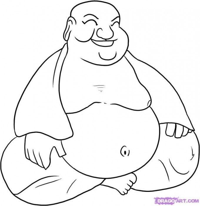 kleurplaat boeddha - google zoeken   silouet - buddha drawing