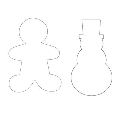 Snowman  Gingerbread Man Template Printable Pattern For Kids