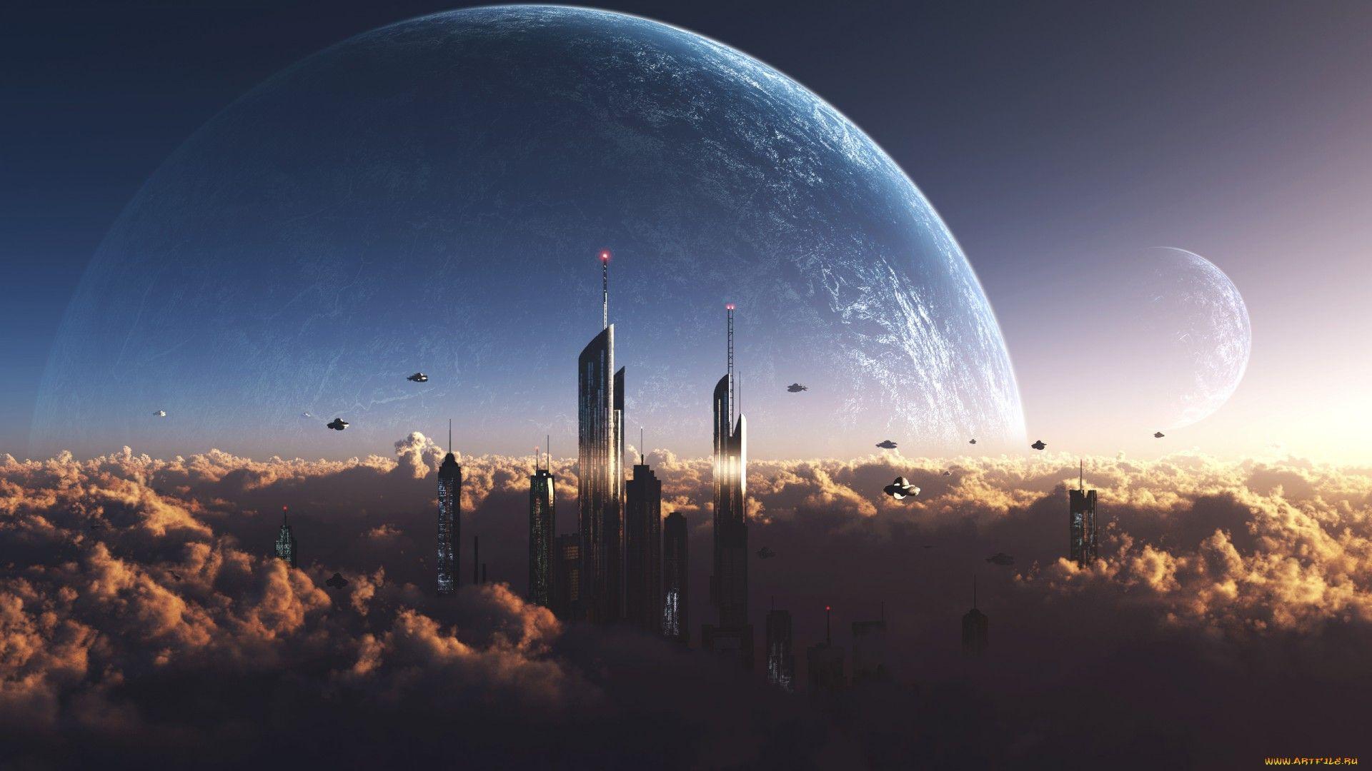 Sci Fi City Wallpaper Sci Fi In 2019 Sci Fi City Sci