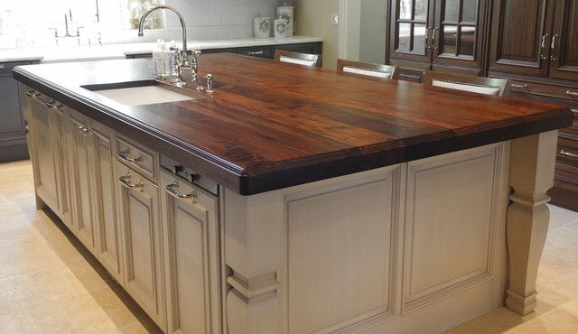 Heritage Wood Island In Black Walnut Modern Kitchen Countertops | Briliant  Modern Kitchen Countertops