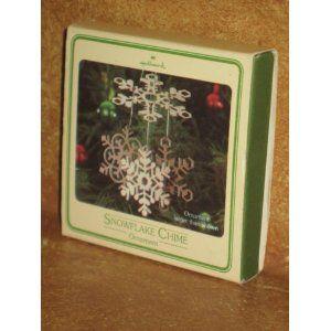 1980 Snowflake Chime Hallmark Ornament.  These are great hallmark ornaments.