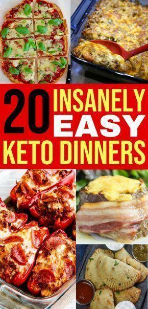 20 einfache Keto-Abendessen-Rezepte für Ihre kohlenhydratarme Diät #ketodinnerrecipes