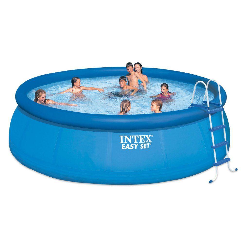 Intex 15ft X 48in Easy Set Pool Set Backyard Pinterest Easy