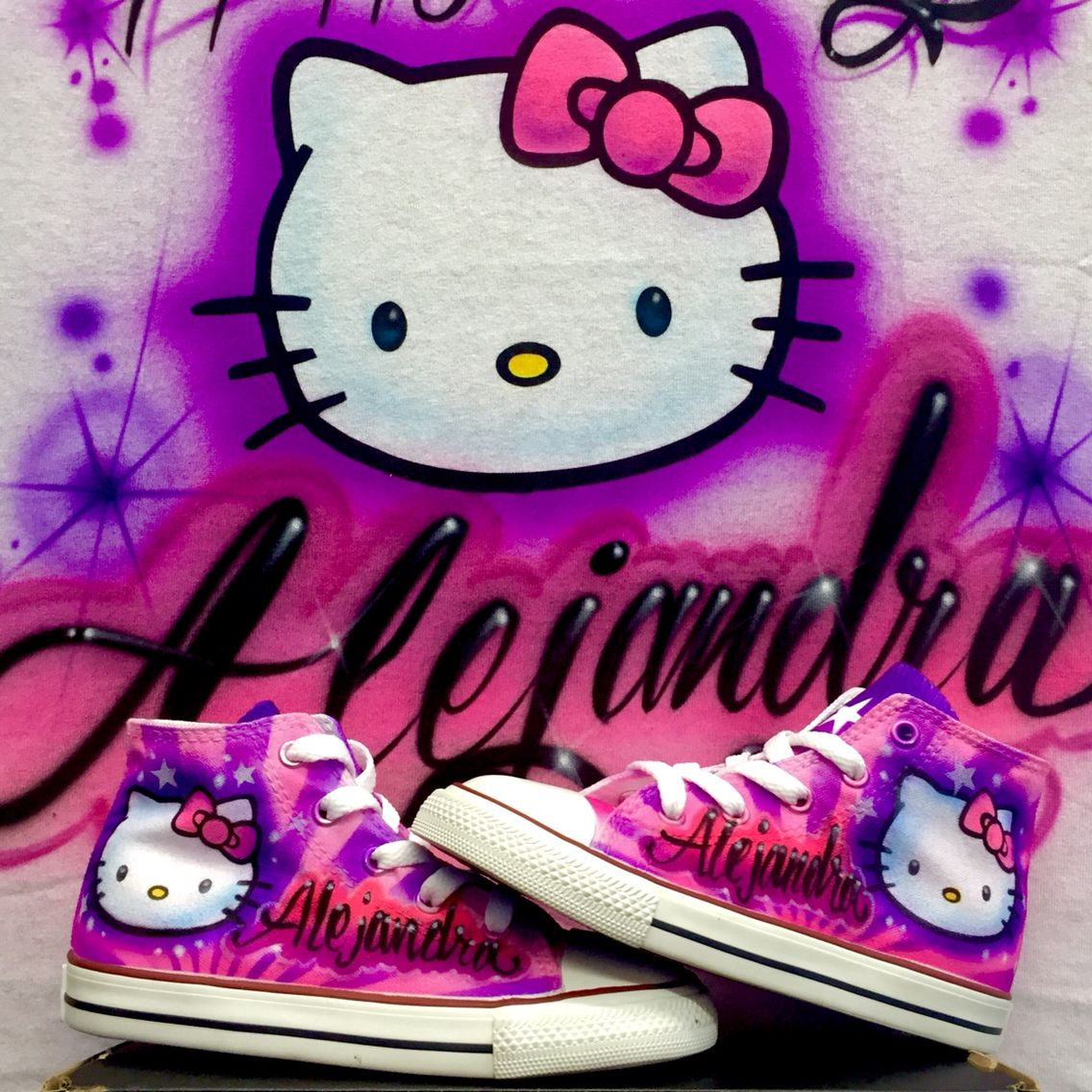 Hello Kitty Set Shirt And Shoes Fell Free To Share This Once Again Somebody Is Having A Very Happy Birthday Hellokittyartbyherby Mybirthday Airbrush