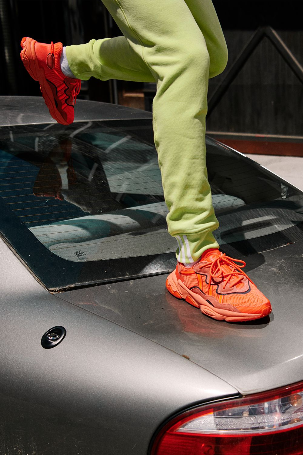 These neon orange adidas Ozweego takes late-'90s and early-'00s ...
