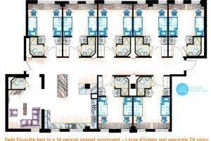 Image Result For Shared Student Rooms Plans Images Student Accommodation Student Room School Floor Plan