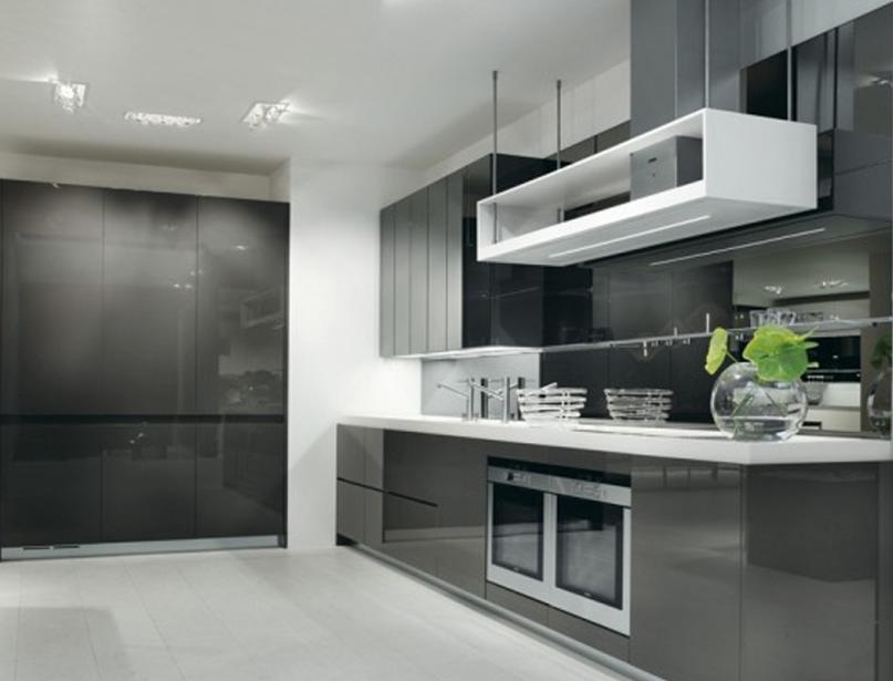 Küche Schränke und Schreibtische in der gleichen Schrank graue ...