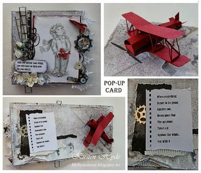 My Craft And Garden Tales Pop Up Plane With Template Hobby