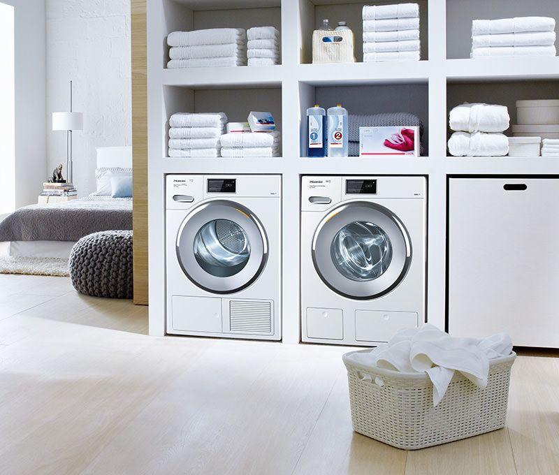 Miele W1 Waschmaschine Trockner Auf Waschmaschine Hauswirtschaftsraum