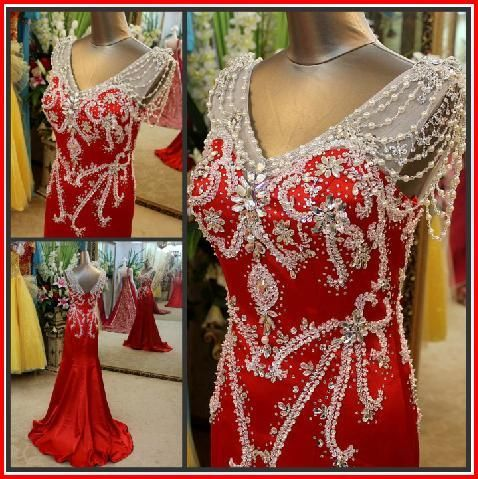 YZ New Arrival Gorgeous Luxurious Swarovski Crystals Bridal Wedding Dress XYXV