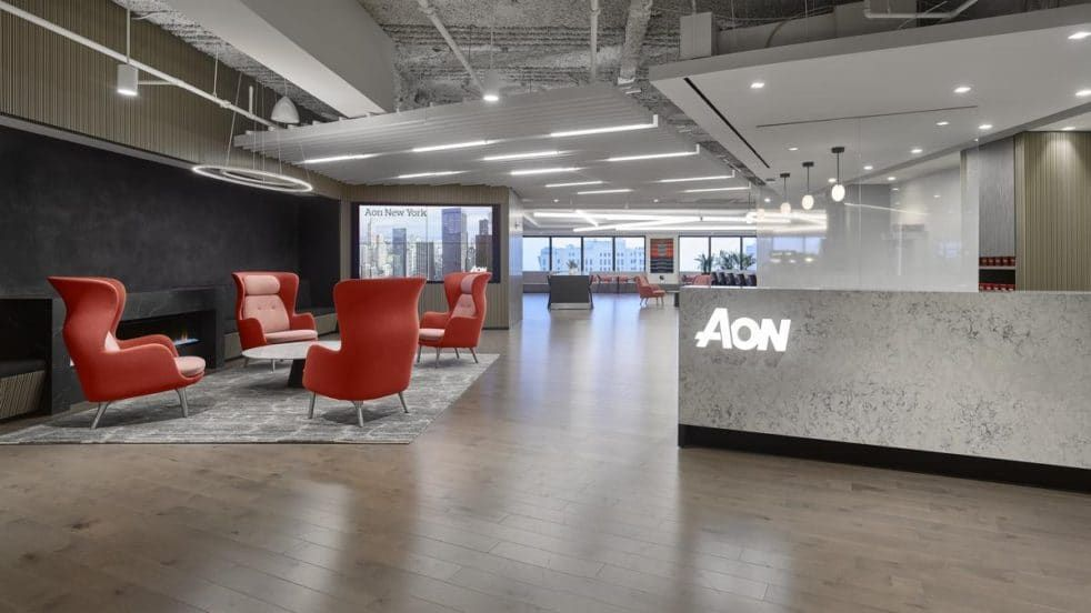 Aon New York Meadows Office Interiors In 2019 City