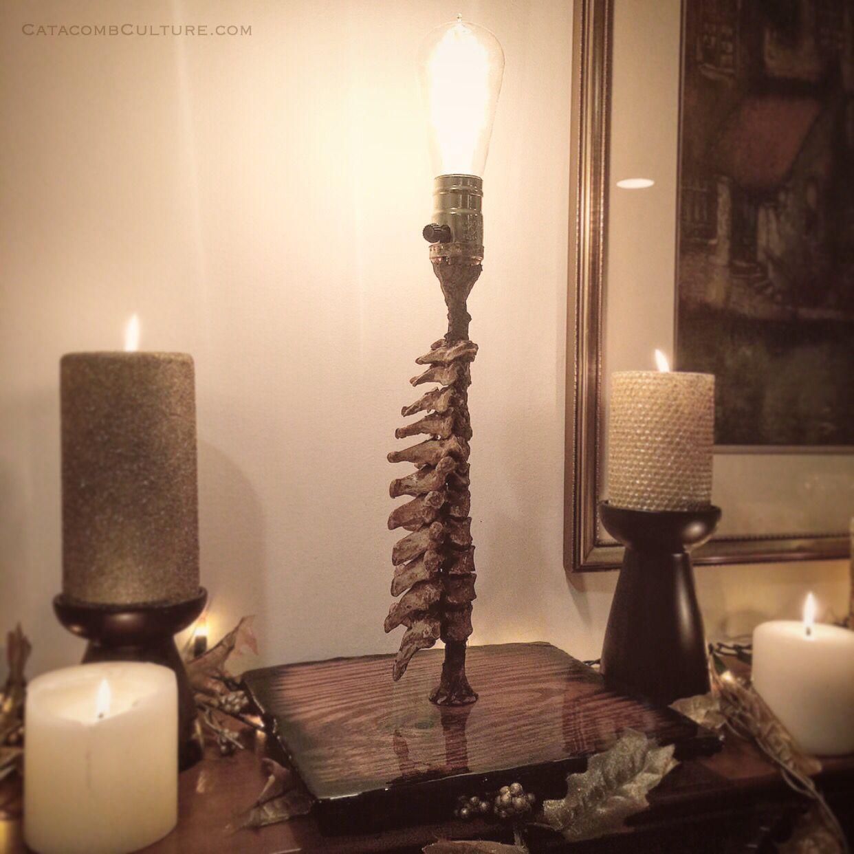 Spine Of The Princess Lamp Explore Bone Decor Art At Catacombculture Https Www Etsy