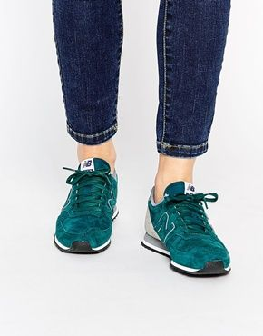 62d98cb444971 New Balance 420 Green Perforated Leather Sneakers | STYLE in 2019 ...