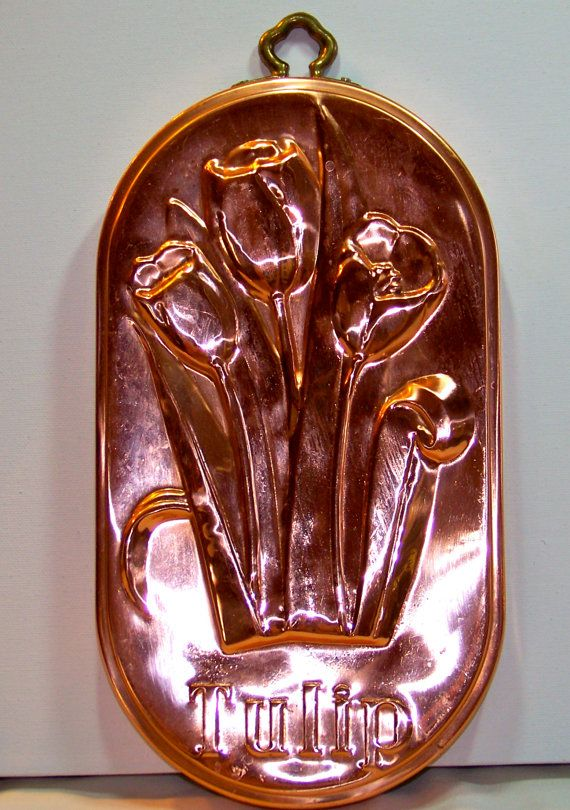 Beautiful Vintage Copper Tulip Mold by SanMonet on Etsy, $125.00