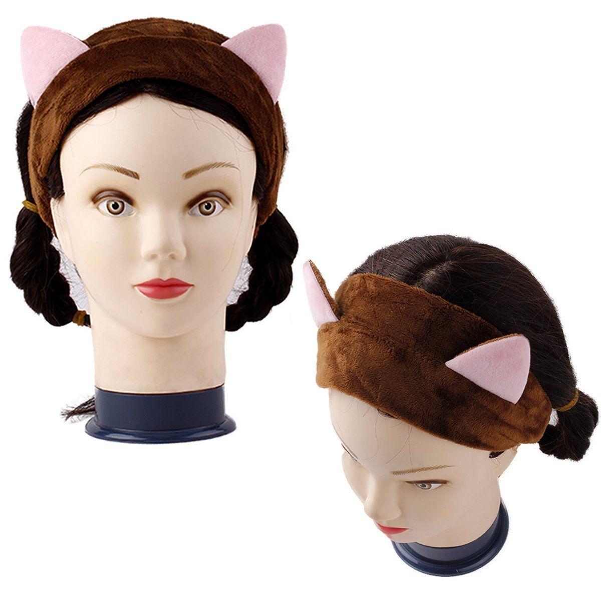 Pieces cat ear headbands makeup hair band cute facial headband