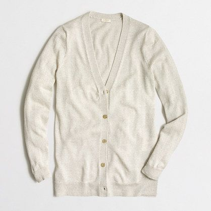 d687bba206 J.Crew Factory - Factory long merino V-neck cardigan sweater with buttons