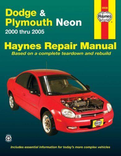 Dodge Plymouth Neon 2000 Thru 2005 Haynes Repair Manual Repair Manuals Dodge Plymouth