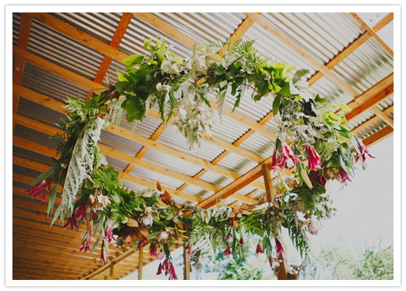 floral garland wreath