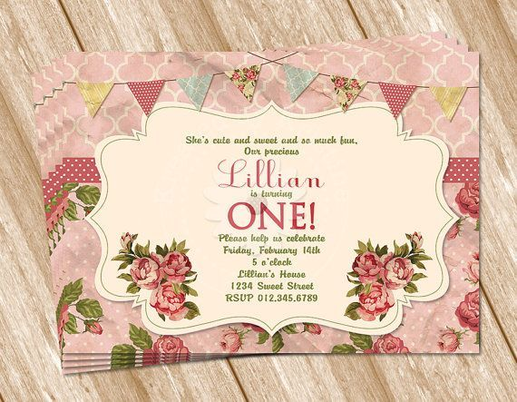 1000+ images about invitations on Pinterest | Vintage birthday ...