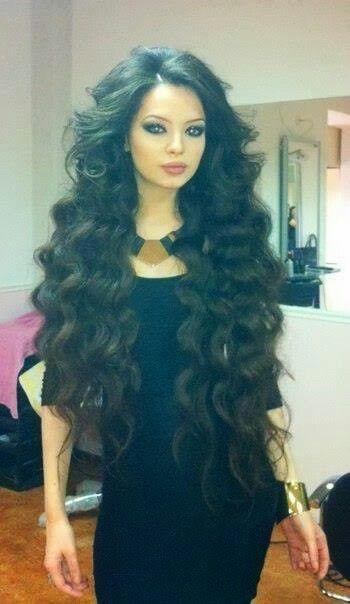 long black curly hair love