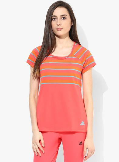 Adidas Premium Pink T Shirt for Women@looksgud #Adidas #Orange ...